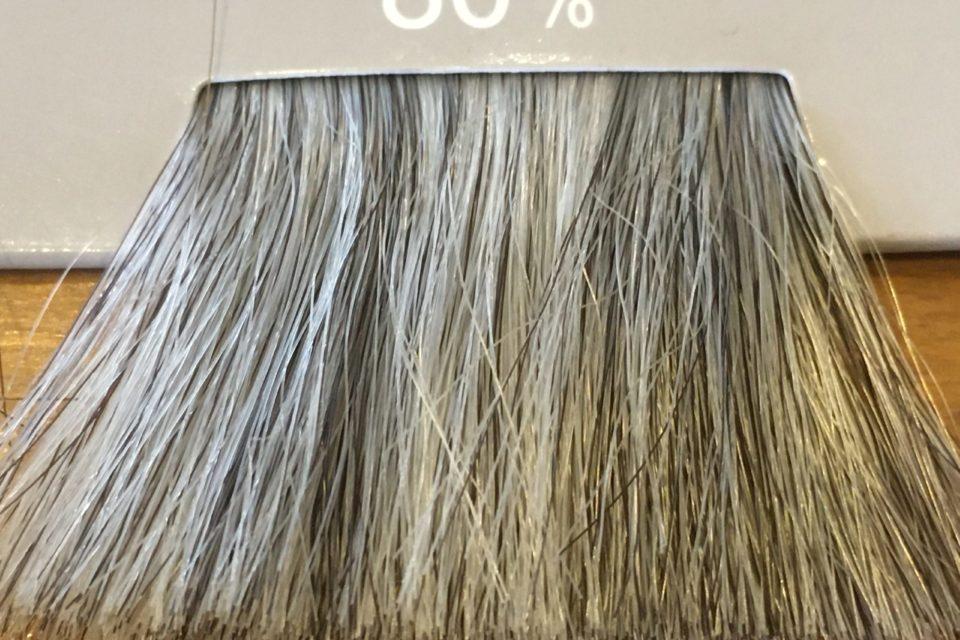 80%の白髪率